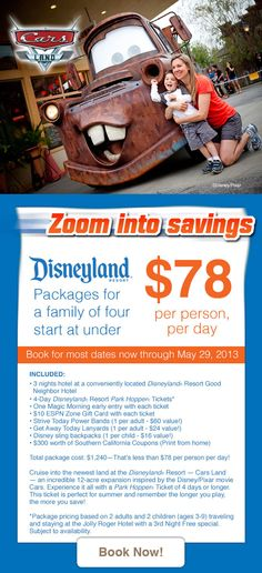 Save up to on your next family vacation! Get Away Today is the provider of discount Disneyland family vacations and affordable family travel to San Diego, Universal Studios, and more! Honeymoon Packages In India, Disneyland Vacation Packages, Disneyland 2016, Disneyland Secrets, Disneyland Hotel, Disneyland Ideas, Vacation Resorts, Disney Vacations, Disney Trips