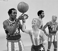 Medowlark Lemon from the Harlem Globetrotters with Goldie Hawn on Laugh In