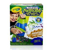 Crayola Airbrush T Shirt Art Paint Stencils Marker Kids Creative Designer Boys #Crayola