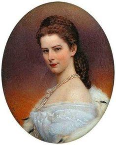 Portrait of Empress of Austria...Elisabeth wellknown as Sissi