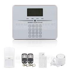 DIYSECUR Touch Keypad Wireless GSM PSTN Intercom Mornitor House Intruder Alarm System Voice Prompt White