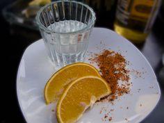 Ilegal Mezcal, a beer, oranges and worm-salt... that's amoré.