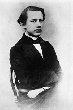 2. A young Peter Ilyich Tchaikovsky (1840-1893). When Peter was five years old, he began taking piano lessons, but his parents wanted him to work in the civil service. He went to a boarding school at the age of ten, and in 1859, he became a bureau clerck with the Ministry of Justice.