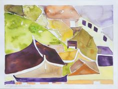 Run of the Roof  Watercolor