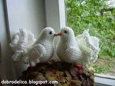 Paloma Tejidos a Crochet, My Crafts and DIY Projects Crochet Birds, Crochet Animals, Crochet Flowers, Crochet Lace, Amigurumi Patterns, Crochet Patterns, Crochet Videos, Learn To Crochet, Crochet Projects