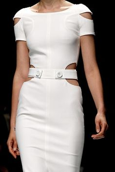 Beautiful cut out white Versace dress