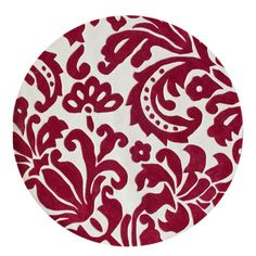 nuLOOM Hand-tufted Pino Tribal Damask Red Rug (6' Round) | Overstock™ Shopping - Great Deals on Nuloom Round/Oval/Square