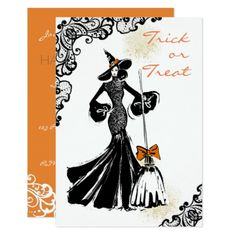 halloween fashionillustration with lace pattern card - pattern sample design template diy cyo customize
