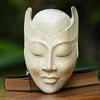 Wood mask, 'Blossom Head'