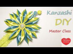 Пышный цветок из репса. МК / Lush flower of rep ribbons. DIY - YouTube