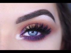 Jaclyn Hill x Morphe Palette Purple Halo Eye Mak Halo Eye Makeup, Eye Makeup Cut Crease, Purple Eye Makeup, Colorful Eye Makeup, Eye Makeup Tips, Makeup For Brown Eyes, Smokey Eye Makeup, Skin Makeup, Beauty Makeup