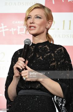 Cate Blanchett attends the Stage Greeting for 'Carol' at Roppongi Hills on (January 22, 2016) in Tokyo, Japan.