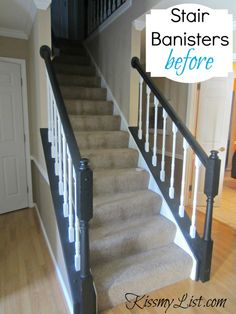 Tutorial Unique diy home improvement fails Painted Staircases, Painted Stairs, Grey Painted Rooms, Diy Design, Stair Banister, Banisters, Diy Home Improvement, Home Repair, Diy Painting