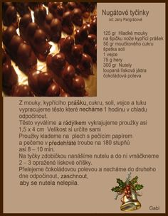 Christmas Candy, Christmas Baking, Christmas Cookies, My Favorite Food, Favorite Recipes, Czech Recipes, Salty Foods, Candy Recipes, Fondant