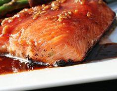 Filet de truite ail, gingembre et miel