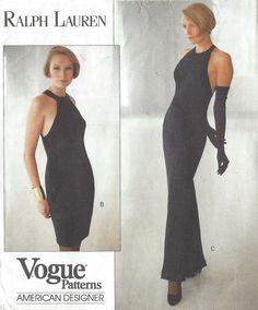 90s Ralph Lauren Womens Evening Gown Racer Back by CloesCloset