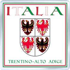 Acrylic Fridge Magnet: Italy. Coat of Arms of Trentino-South Tyrol (Trentino-Alto Adige)