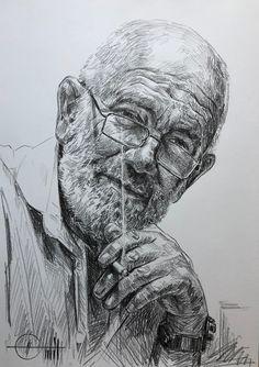 Petru Esquisse au crayon  par Emil Ungureanu