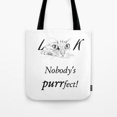 Look at Me Nobody's Purrfect Tote Bag by Urban Outfits, Cool Outfits, Summer Outfits, Casual Chic, Casual Wear, Fashion Shoes, Women's Fashion, Cute Tote Bags, Travel Outfits