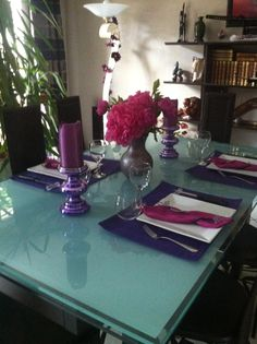 Mariage du violet et fushia