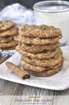Cinnamon Chocolate Chip Cookies - your homebased mom
