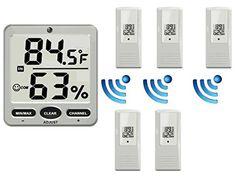 8 Wireless Thermo-Hygrometer sensors for the henhouse, greenhouse, cellar, livestock