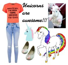 """""""Unicorns are awesome!!!"""" by kirra-1994 ❤ liked on Polyvore featuring ASOS"""