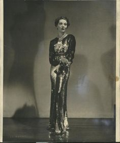 1930s evening gown.