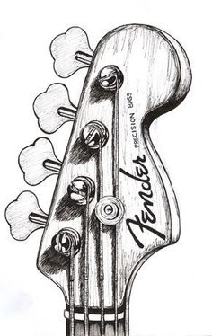 bass guitar drawing - Google zoeken #Guitartypes