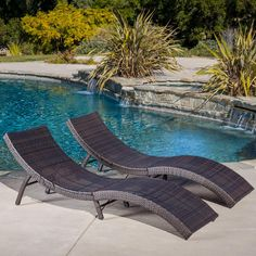 maureen outdoor multibrown pe wicker folding chaise lounge chairs set of 2 lounge in