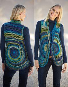 Crochet Granny, Crochet Mandala, Knit Crochet, Crochet Shrugs, Crochet Toddler, Crochet Jacket, Knitted Bags, Crochet Clothes, Cardigan Pattern