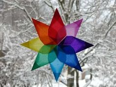 Easy to make window stars would be a great project for the teens to teach the little ones...you gotta have projects to keep the kids busy during the Christmas break. Don't you agree?