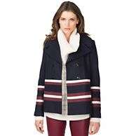 Tommy Hilfiger Marian Lined Pea Coat - Official Tommy Hilfiger® Store