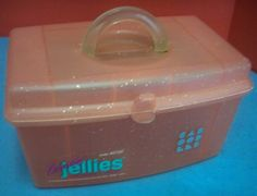 Pink Caboodles Jellies Glittery #2920 Mirror Removable Tray Make Up Caddy Case #Caboodles