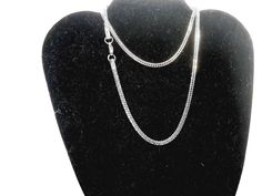 """Rounded Foxtail Chain 24"""" Stainless Steel matte finish  #Unbranded #Chain"""