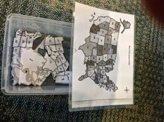 Matching map pieces..