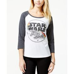Juniors' Star Wars Back-Cutout Graphic Baseball T-Shirt from Hybrid ($15) ❤ liked on Polyvore featuring tops, t-shirts, baseball shirts, baseball t shirt, graphic baseball tees, graphic tees and baseball tshirt
