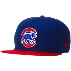 wholesale dealer 68152 e9e92 Chicago Cubs Royal and Red Crawling Bear Logo Snapback by New Era  Chicago   Cubs