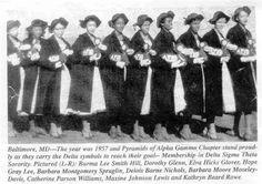 Morgan State College - Delta Sigma Theta - Alpha Gamma 1957