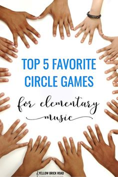 A list of five circle games that are great for elementary music. There are so many concepts you can teach with these games, and the kids will love it!