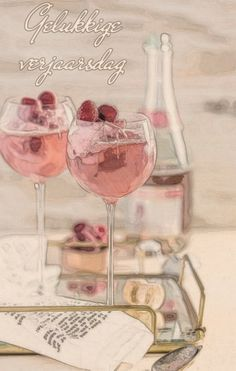 Birthday Wishes, Happy Birthday, Pink Images, Happy B Day, Afrikaans, Alcoholic Drinks, Birthdays, Wine, Bottle