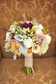 From same wedding as the different colored bridesmaids dresses...bouquets