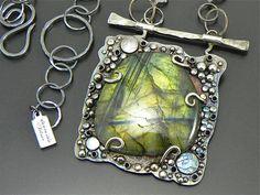 RESERVED Near The Bridge Sterling Necklace Handmade door joykruse