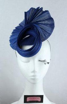 Royal blue twisted jinsin fascinator