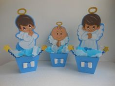 Centros De Mesas Infantiles Baby Shower, Bautizos - Bs. 1.750,00 ... Baby Boy Baptism, Baby Shawer, Bautizo Niño Ideas, Boy Baptism Centerpieces, Angel Baby Shower, 2nd Birthday, Birthday Parties, Royal Babies, Ideas Para Fiestas