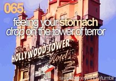 Feeling your stomach drop on the tower of terror