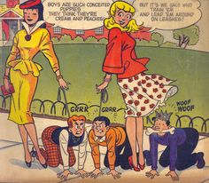 """tiger-and-wildkitty: """"vintagegal: """"Archie's Girls Betty and Veronica Annual """" :D I like the above idea a lot """" Teen Posters, Archie Comics Characters, Archie Comics Riverdale, Brooklyn Girl, Misandry, Mixed Wrestling, Best Comic Books, Comic Book Panels, Betty And Veronica"""