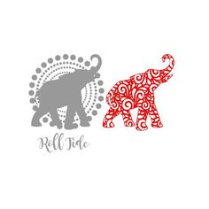 Alabama Roll Tide Elephant on circle background SVG Studio Eps Pdf PNG cutting file Silhouette Painting, Silhouette Cameo Projects, Alabama Elephant, Disney Diy Crafts, Drawing Stencils, Diy Screen Printing, Christmas Stencils, Quilling Paper Craft, Elephant Design