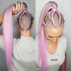 Thankyou next 💁‍♀️ I am SO ENVIOUS of this colour! 😍😍 using LILAC! Website restocked guys and there wont be another restock for 4 weeks so… Box Braids Hairstyles, Cool Hairstyles, Cornrow Hairstyles White, Teenage Hairstyles, Hairstyles 2018, African Hairstyles, Hairstyle Ideas, Rave Hair, Festival Braid