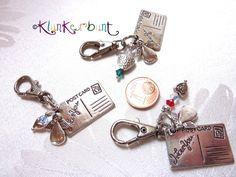 """Schlüsselanhänger - ✿ Schlüsselanhänger """"Liebesbrief"""" - ein Designerstück von Klunkerbunt bei DaWanda"""